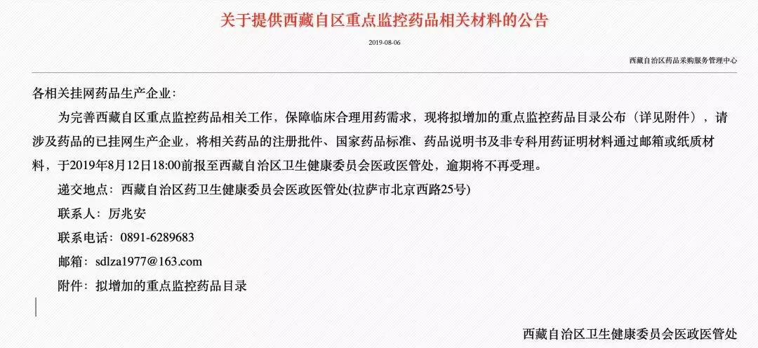 西藏34个药品被重点监控,包括14个中成药